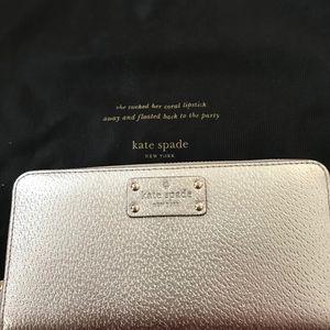 Kate Spade Gold Zip Around Wallet
